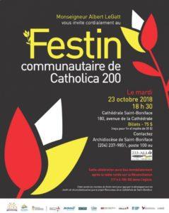 Catholica 200 Festin communautaire @ Grande salle de la Cathédrale de Saint Boniface | Winnipeg | Manitoba | Canada